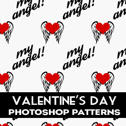Valentine Heart Patterns for Photoshop psd-dude.com Resources