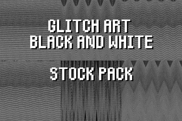 Glitch Art BW Stock Pack by Niedec-STOCK photoshop resource collected by psd-dude.com from deviantart
