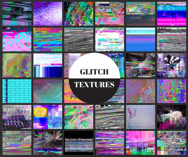 Glitch Textures by Summer-to-the-spring photoshop resource collected by psd-dude.com from deviantart