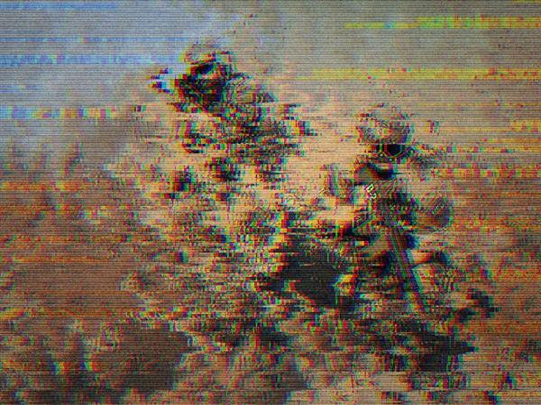VHS Glitch Background For Photoshop