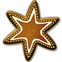 Gingerbread Star Icon