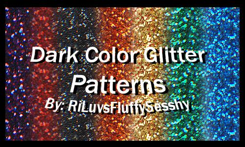Dark Color Glitter Patterns by RiLuvsFluffySesshy photoshop resource collected by psd-dude.com from deviantart