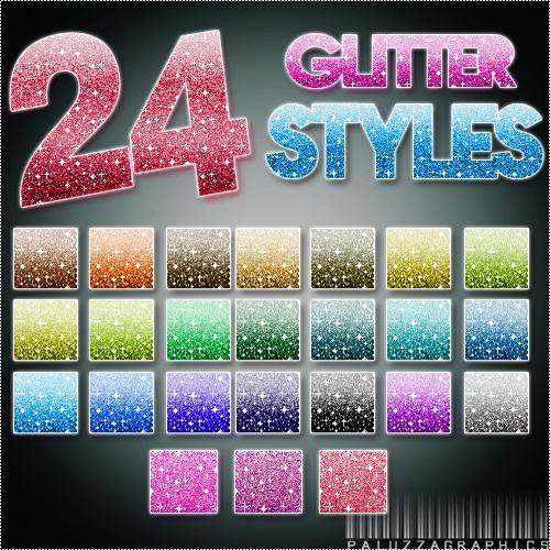 Glitter Styles and Patterns for Photoshop