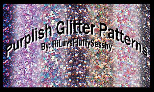 Purple Photoshop Glitter Patterns