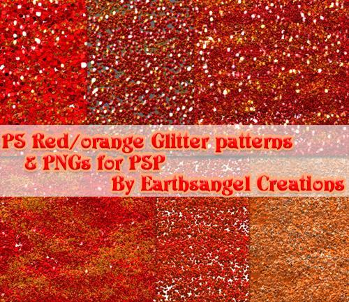 Red and Orange Glitter PS Patterns
