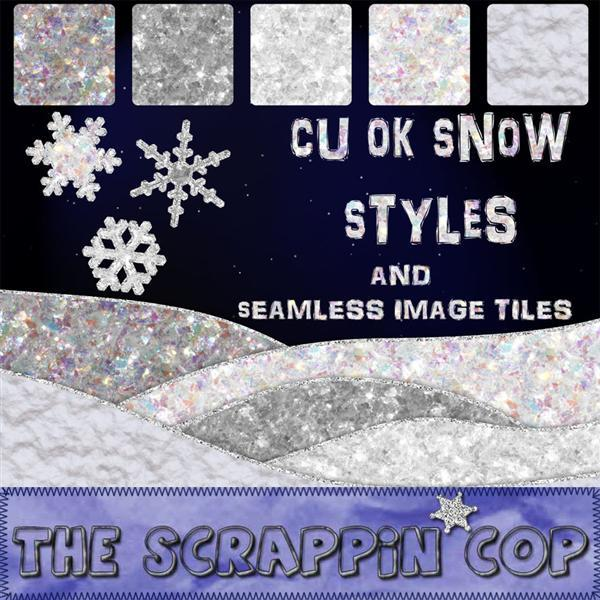 Snow Photoshop Glitter Styles