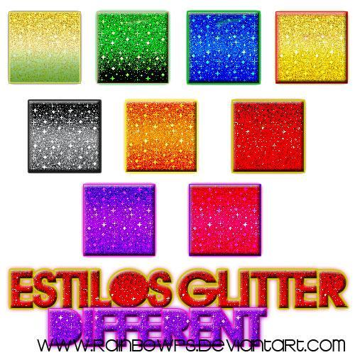 Styles Glitter Photoshop Set