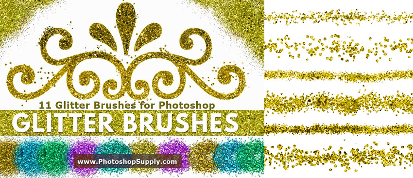 Glitter Brushes for Photoshop
