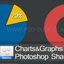 Chart and Graph Vector Photoshop Shapes psd-dude.com Resources
