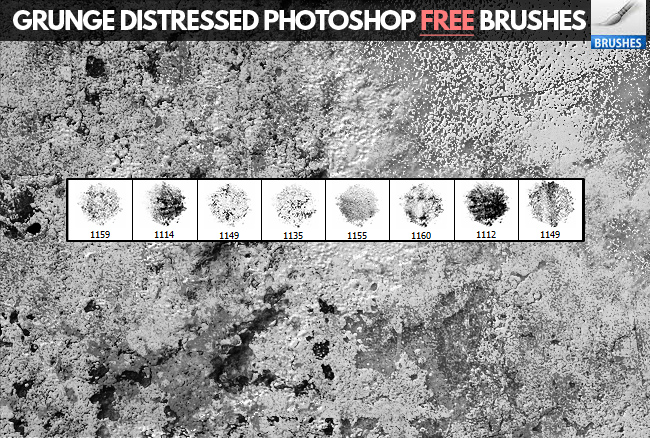grunge distressed Photoshop brushes free download