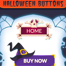 Halloween Vector Buttons with Free PSD psd-dude.com Resources