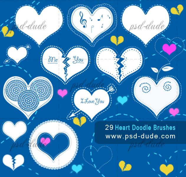 Heart Brushes (FREE)