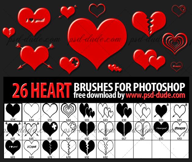 Heart Photoshop Brushes (FREE)