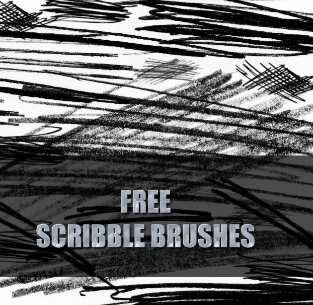 Scribble Brushes by necrosensual-art photoshop resource collected by psd-dude.com from deviantart