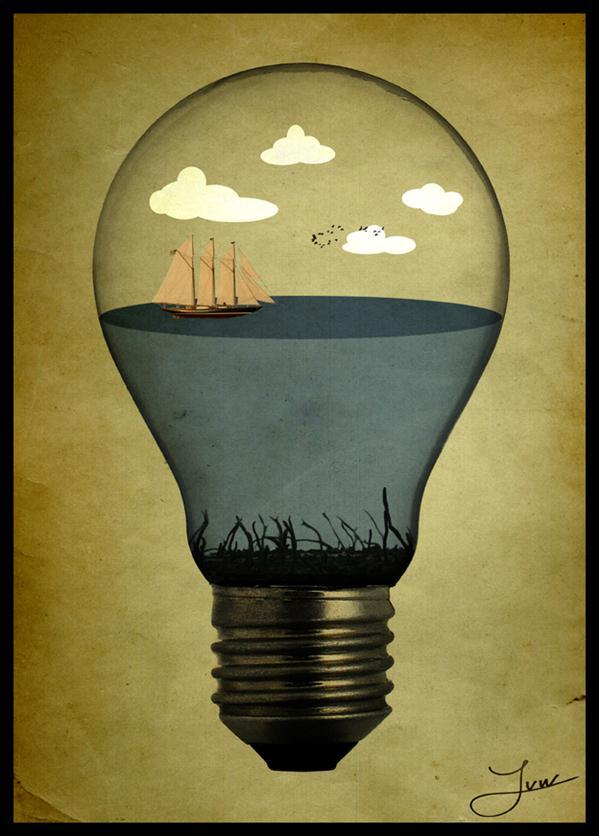 Life in a Bulb Photo Manipulation