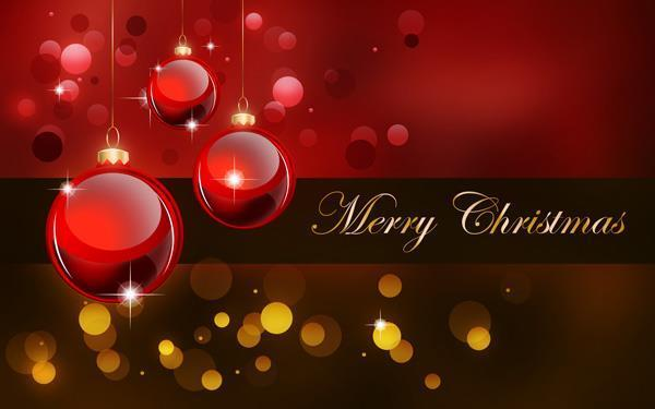 Beautiful Merry Christmas Card in Photoshop