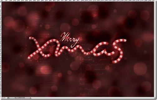 Christmas Candy Photoshop Text Tutorial