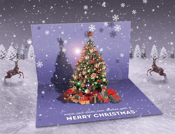 Create An Image Pop Up Christmas Card In Photoshop