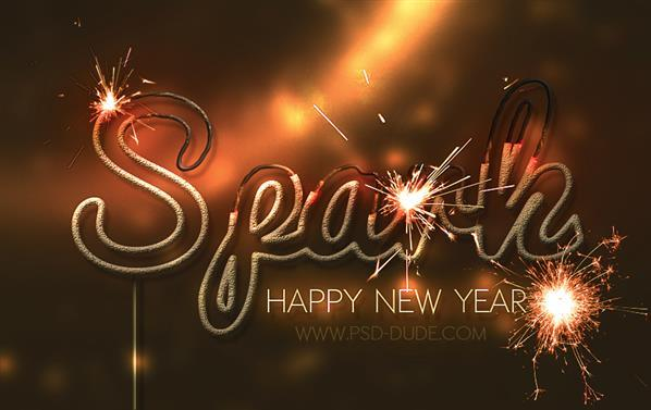 Create a Sparkler New Year text in Photoshop