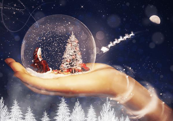 Create Fantasy Christmas Scene In Photoshop