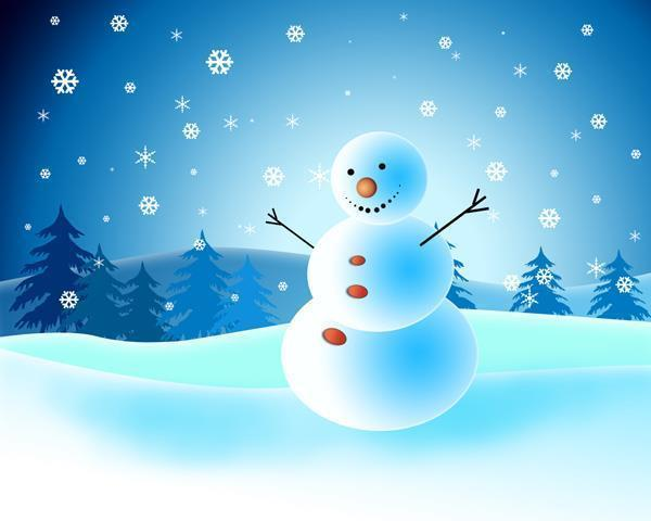 Cute Snowman Card in Photoshop