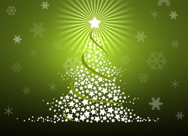Merry Christmas Tree Card in Photoshop