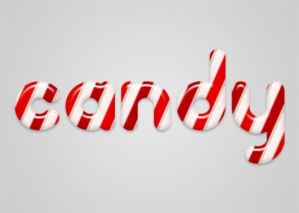 Photoshop candy cane text effect