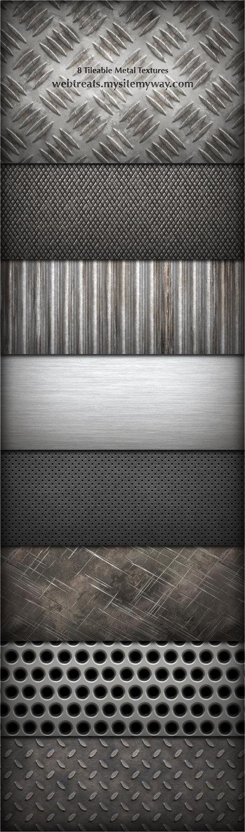 8 Tileable Metal Textures Pack