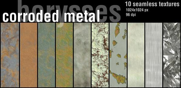 Corroded metal textures pack