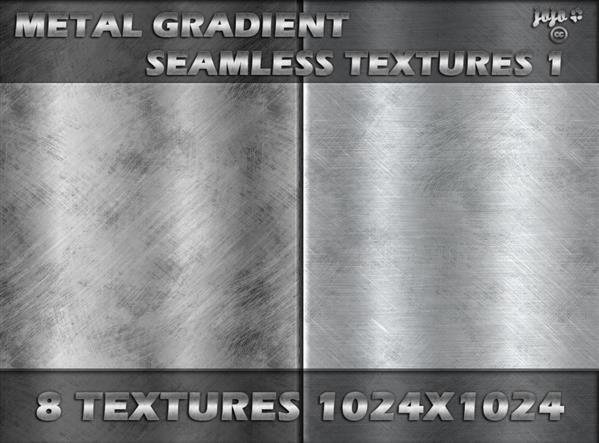 Metal gradient seamless texture pack