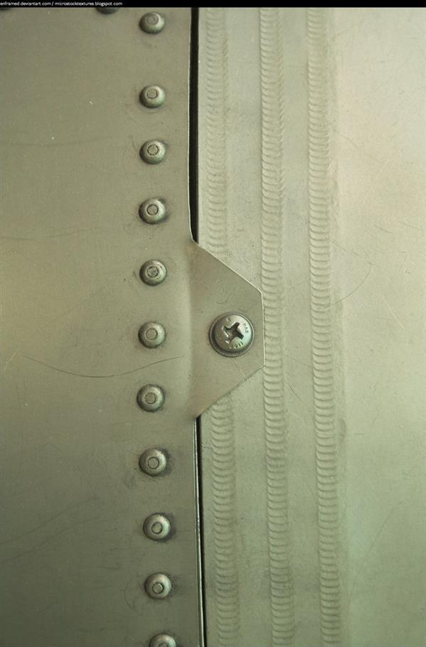 Metal texture with rivets and screws