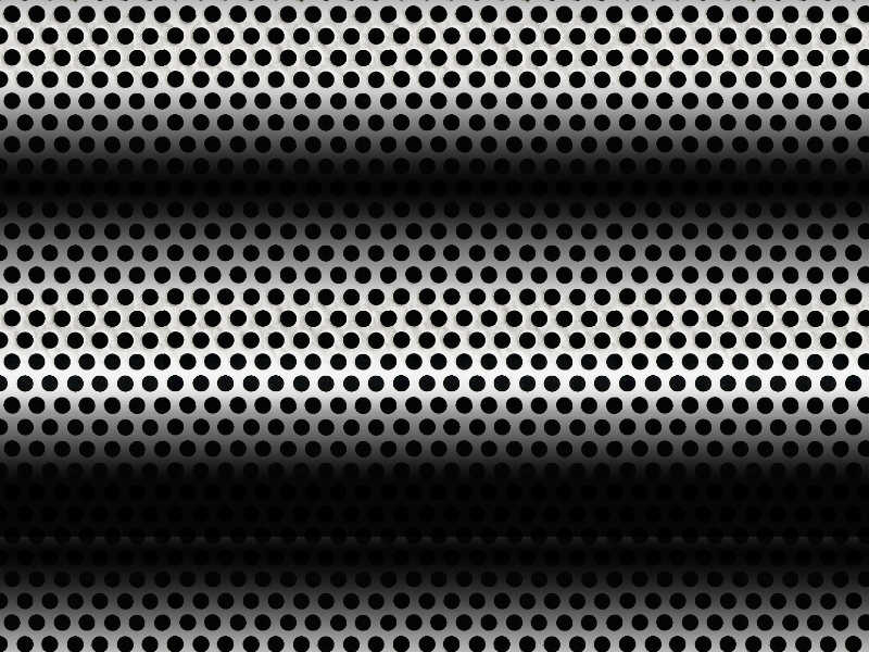 Perforated Metal Sheet Texture (Seamless)