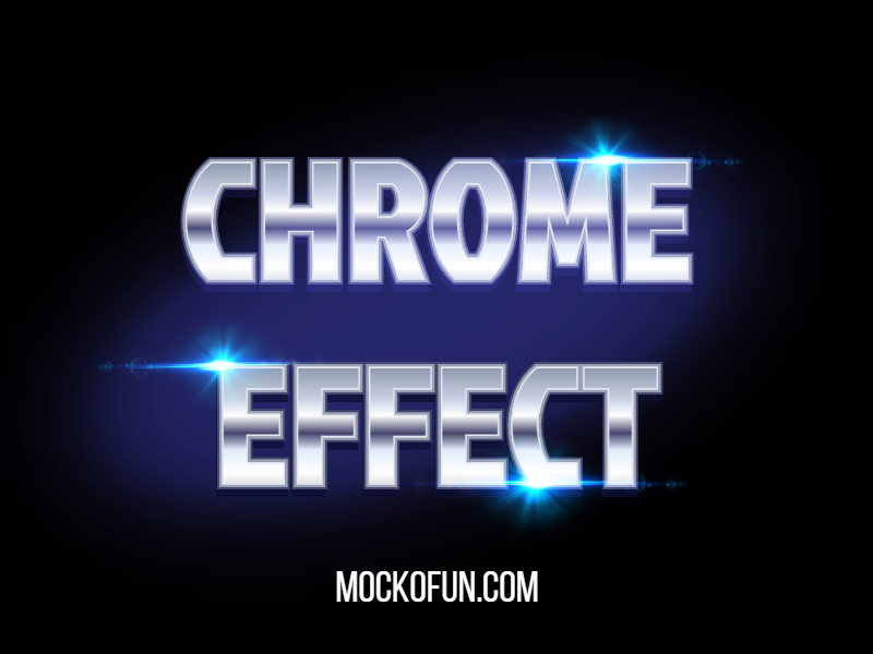 Metal Chrome Effect without Photoshop - FREE