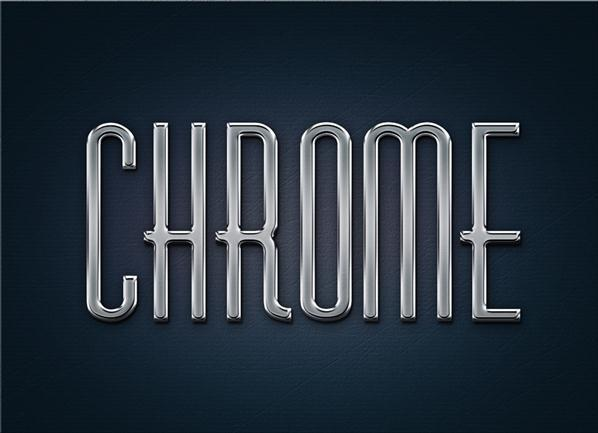 Metal Chrome Layer Styles and PSD - Free