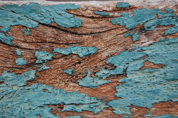 Chipped Blue Paint on Old Wood Texture