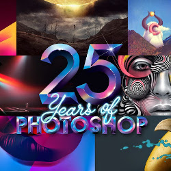 Adobe Photoshop Twenty Five Years Anniversary Infographic psd-dude.com Resources