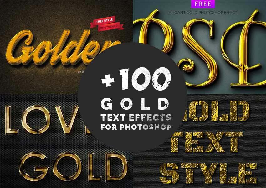 Gold Text Effect PSD Files