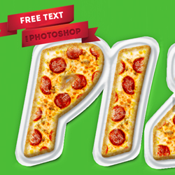 Pizza Photoshop Free Text Style psd-dude.com Resources