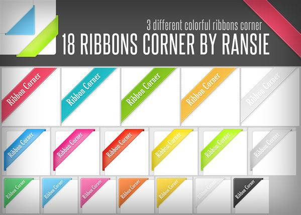 Ribbon Corners PSD