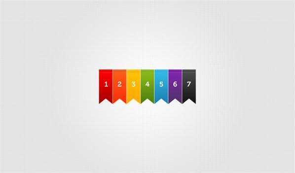 Simple Colored Ribbons Vector PSD
