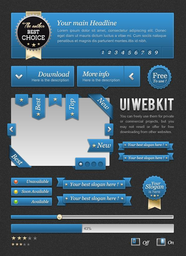 Web Kit Freebie PSD