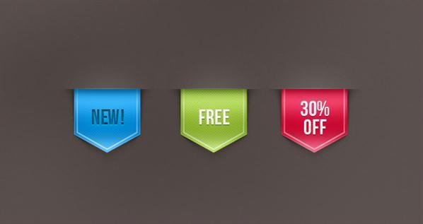 Web Ribbon Sale Label PSD