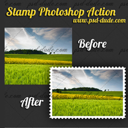 Stamp Generator with Free Photoshop Action psd-dude.com Resources