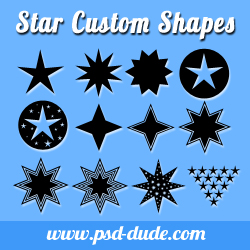 Star Shapes for Photoshop psd-dude.com Resources