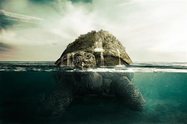 Giant Turtle tut by PSHoudini photoshop resource collected by psd-dude.com from deviantart