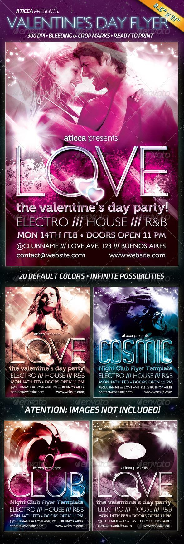 Love Valentine Day Party Flyer