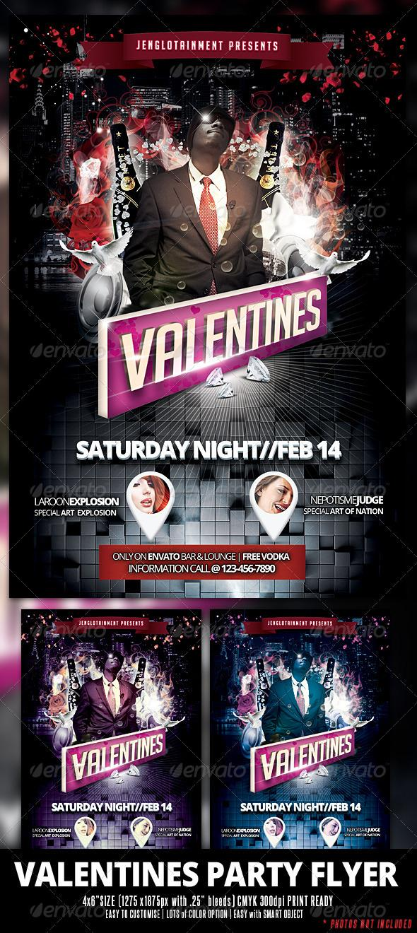 Cool Club Party Template for Valentine Day