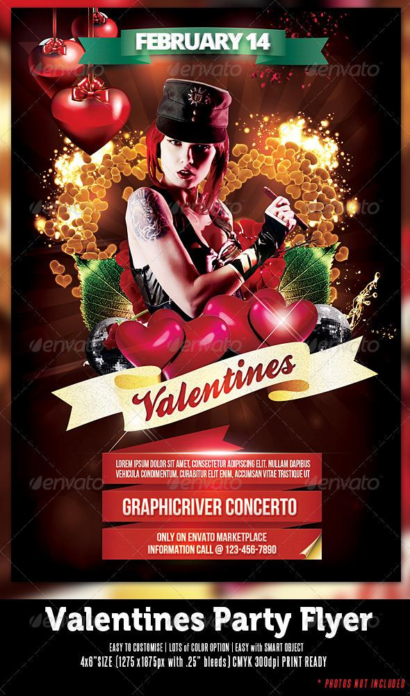 Valentine Girl Party Template