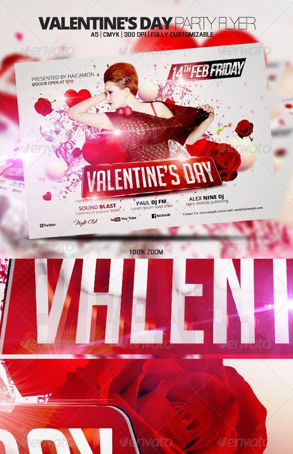 Red Rose Valentine Party Template