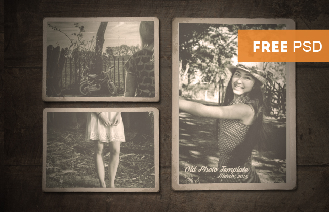 old photo border psd vintage old photo template with free psd | psddude